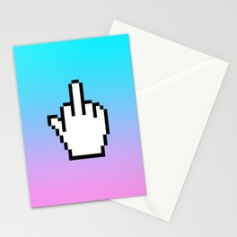 Middle finger Stationery Cards