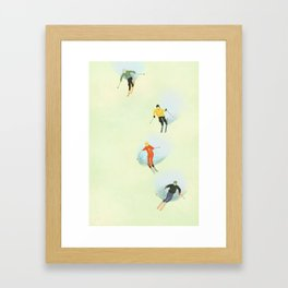 Skiing at High Speeds Framed Art Print