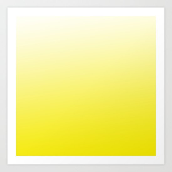 Simply sun yellow color gradient - Mix and Match with Simplicity of Life Art Print