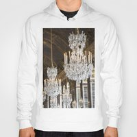 chandelier Hoodies featuring Versailles Chandelier by Scott Board