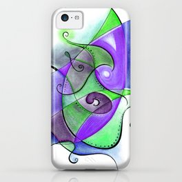 Lime and Violet Anxious iPhone Case