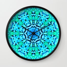 Green and blue inspiration Wall Clock