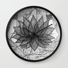 Laxmi and Nature Wall Clock