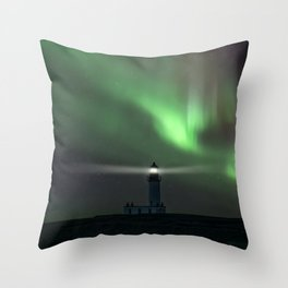 When the northern light appears Throw Pillow