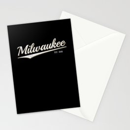 Retro Classic City of Milwaukee Wisconsin Vintage Stationery Cards