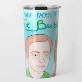 The many faces of Steve Buscemi Travel Mug