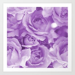 Violet Rose Bouquet For You - Valentine's Day #decor #society6 #homedecor Art Print