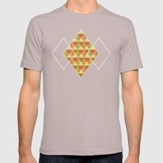 Triangle Diamond Grid SMALL Mens Fitted Tee Cinder