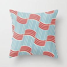 Vintage Basketweave: Ribbon Throw Pillow