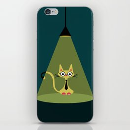 intellectual cat iPhone Skin
