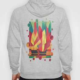 Cubist Abstract of Junk Sails and Ocean Skies Hoody