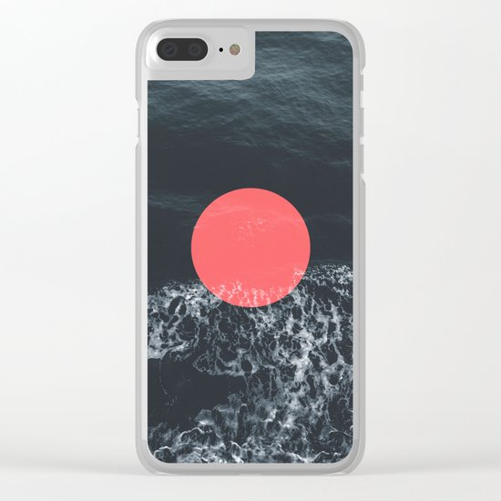Ocean Circle Clear iPhone Case