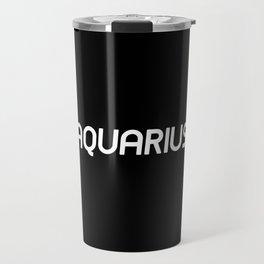 AQUARIUS (BLACK) Travel Mug