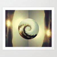 wave Art Prints featuring Wave by matt market
