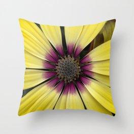 Yellow Calendula Throw Pillow