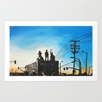 oakland Art Prints featuring Occupy Oakland! by Rebecca Sandford-Smith