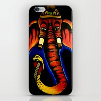 ganesh iPhone & iPod Skins featuring Ganesh by Brian J Farrell