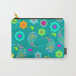Green Paisley № 5 Carry-All Pouch