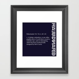 Halucinated Defined Remix Framed Art Print