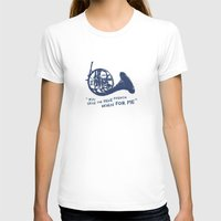 how i met your mother T-shirts featuring How I Met Your Mother - Blue French Horn by Victoria Schiariti