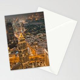 Burj Khalifa in Dubaï by Night Stationery Cards
