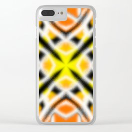 X 2- Black, White & Gold Clear iPhone Case