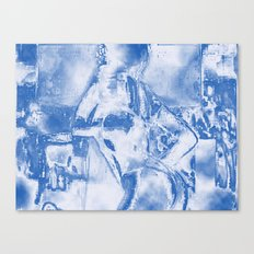 Cyber Dancer Blue and White Canvas Print