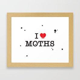 I Love Moths Framed Art Print