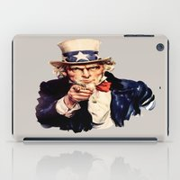 sam smith iPad Cases featuring Uncle Sam by ArtSchool