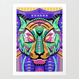 Symmetric Animals. TIGER Art Print