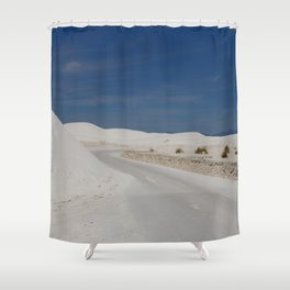 White Sand Reaches Up To The Horizon Shower Curtain