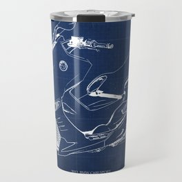 21 C600 Sport BLUE blueprint motorcycle Travel Mug