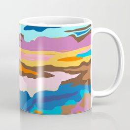 Shape and Layers no.19 - Abstract Modern Landscape Coffee Mug