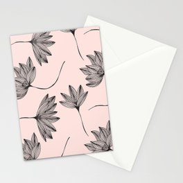 Pink Retro Floral Pattern - Mix and Match with Simplicity of Life Stationery Cards
