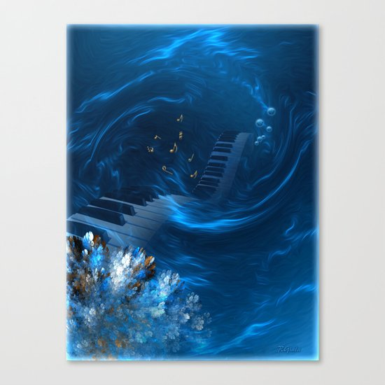Blue coral melody  Canvas Print