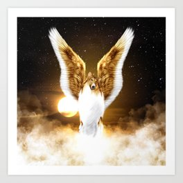 Collie Angel Art Print