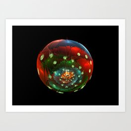 Life in a glass bubble Art Print