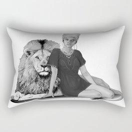 Lion Queen Rectangular Pillow