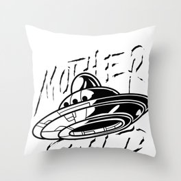 Ufo Alien Mother Ship Flying Saucer Space Gift Throw Pillow