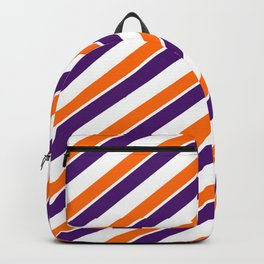 TEAM COLORS 1…Orange and Purple Team Colors Backpack