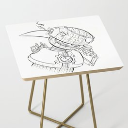 Robot Pirate - ink Side Table