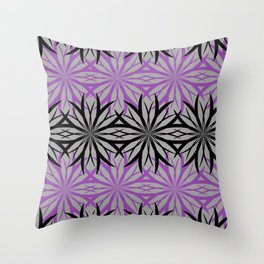 black and purple Throw Pillow