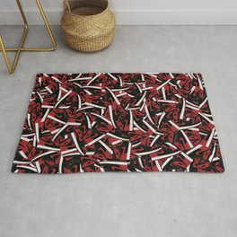 Air Jordan 1 Bred - Collage Print Rug