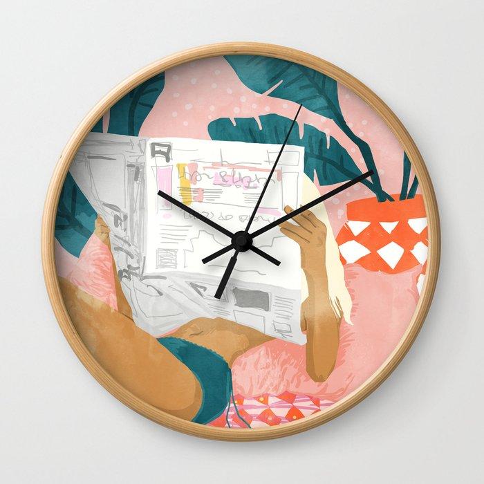 Morning News Wall Clock
