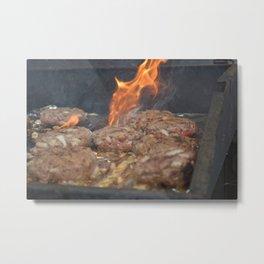 hamburgers Metal Print