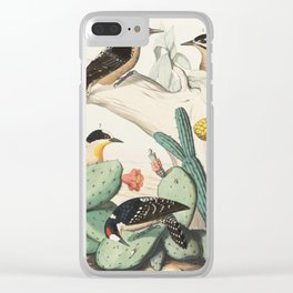 Woodpeckers And Cacti Clear iPhone Case