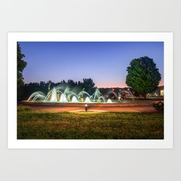 Kansas City Children's Fountain at Dawn Art Print