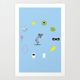 Pixar minimal Art Print