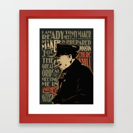 Winston Churchill Pop Art Quote Framed Art Print