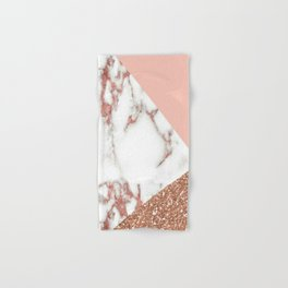 Marble - pink and gold Hand & Bath Towel